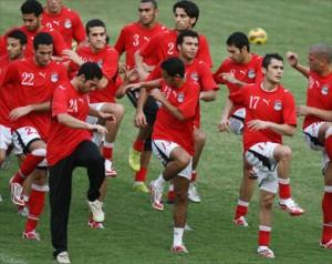 منتخب مصر و استعدادته لمباراة مصر و الجزائر في كأس العالم