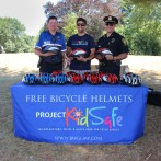 Attorney Reza Breakstone with Neil Cronin and Bob Nedder of the Dedham Police Department at the 2016 Dedham Bike Rodeo.