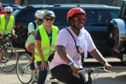 Cyclists at Mattapan on Wheels 2019