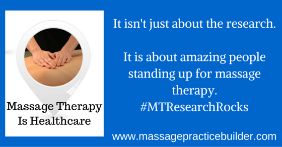 Report on the International Massage Therapy Research Conference 2016
