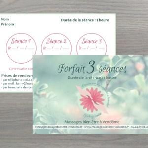 Forfaits massage bien-être à Vendôme 3 séances