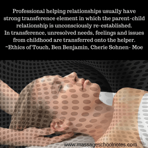 transference in massage
