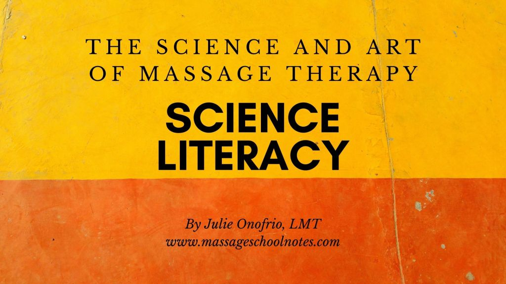 science literacy for massage therapists