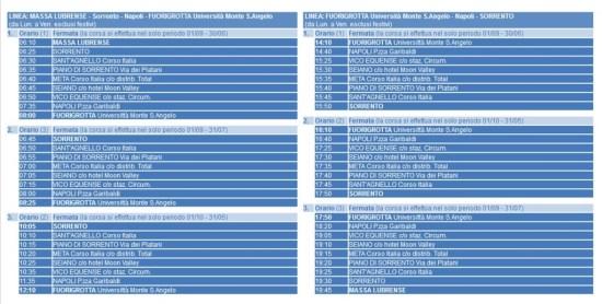 ORARI UNIVERSAL BUS 2015-2016