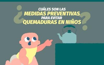 ¿Cómo prevenir las quemaduras en niños?