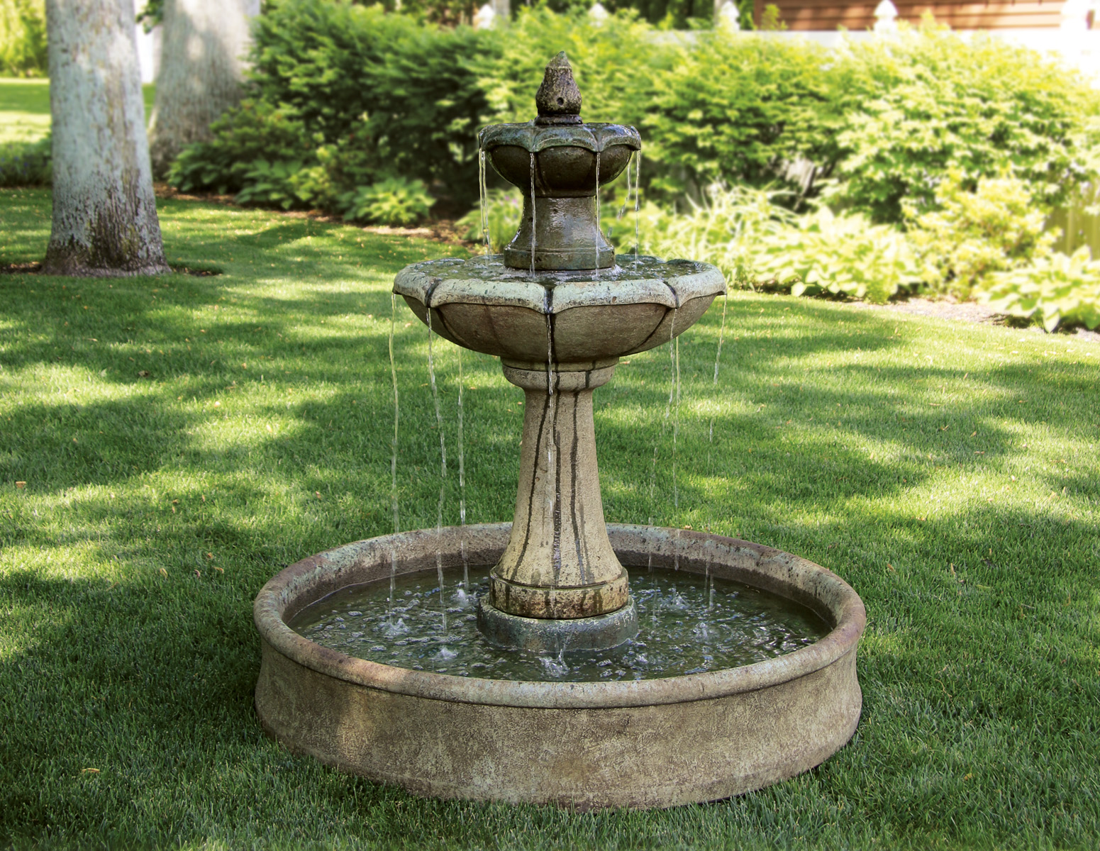 two tier on pool massarelli s on 2 Tier Water Fountain id=29250