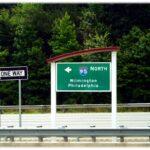 Wilmington road sign