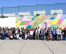 El IES Costa Teguise luce nuevo mural contra la desigualdad y el acoso escolar