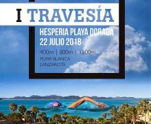 Este domingo día 22 se celebra la 'I Travesía Hesperia Playa Dorada', valedera para la Copa de Natación en Aguas Abiertas Lanzarote 2018