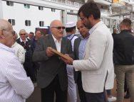 El Presidente del Cabildo de Lanzarote recibe a una delegación italiana de la ciudad natal del navegante Lanzarotto Malocello