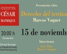 Presentación en la FCM del libro Derecho del Territorio, del catedrático en Derecho Administrativo Marcos Vaquer