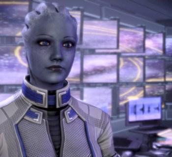 Liara auf der Normandy in Mass Effect 3