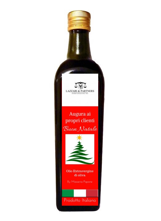 bottiglie olio di oliva personalizzate Natale