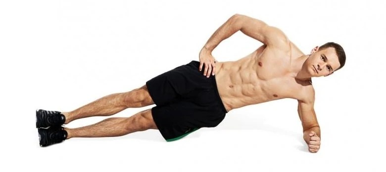 Side plank core exercise