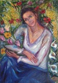 Massimiliana Bettiol Ritratto di Elisa (olio su tela 80x100 2010)