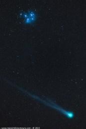 Cometa Lovejoy e le Pleiadi