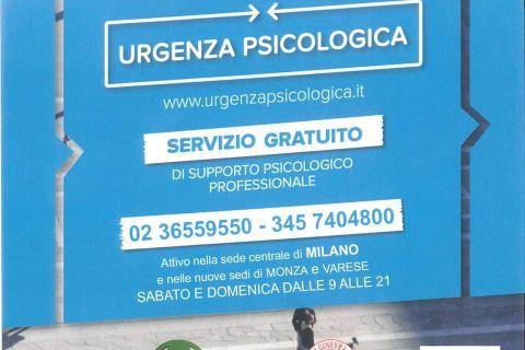 """Un servizio di """"Urgenza Psicologica"""" in Lombardia. Ne parla Giuseppe Cersosimo."""