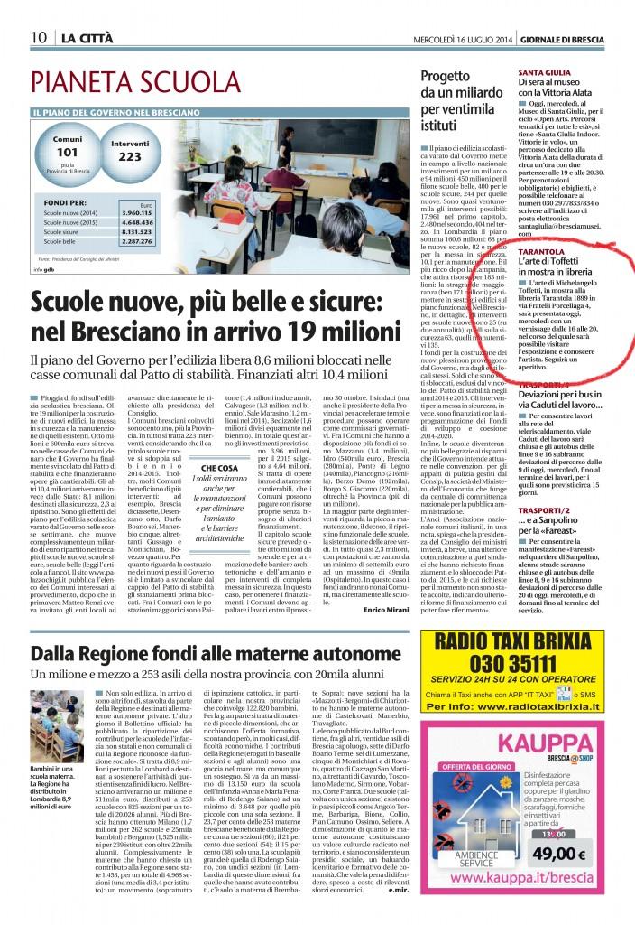 Giornale di Brescia 16-07-2014 pag. 10
