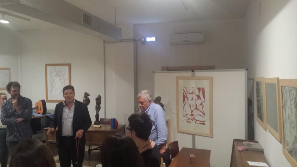 Un momento dell'evento. Assieme a Massimo Lucidi e Michelangelo Toffetti, Aldo Bertolini, professore e Marco Serra Tarantola, editore