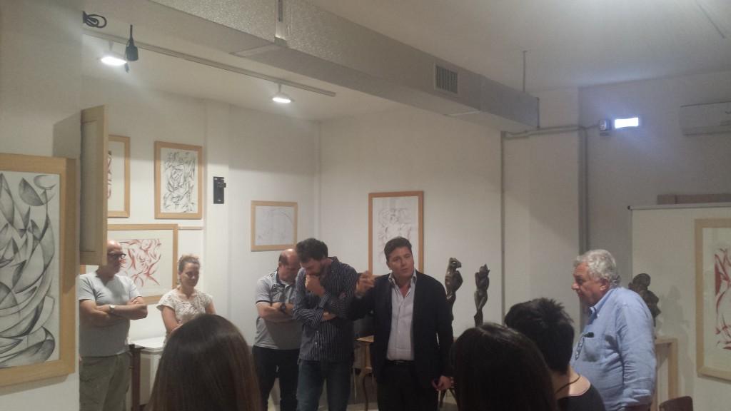 Vernissage di Michelangelo Toffetti alla libreria Tarantola, introduce Massimo Lucidi