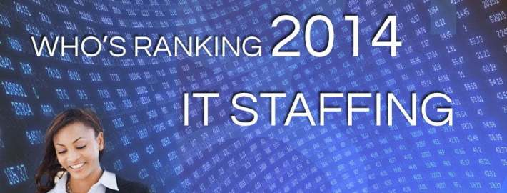 who is ranking on google for it staffing industry 2014
