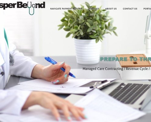healthcare consultant website homepage - Prosper Beyond
