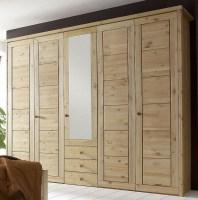 Massivholz Schlafzimmerschrank 5türig Kleiderschrank ...