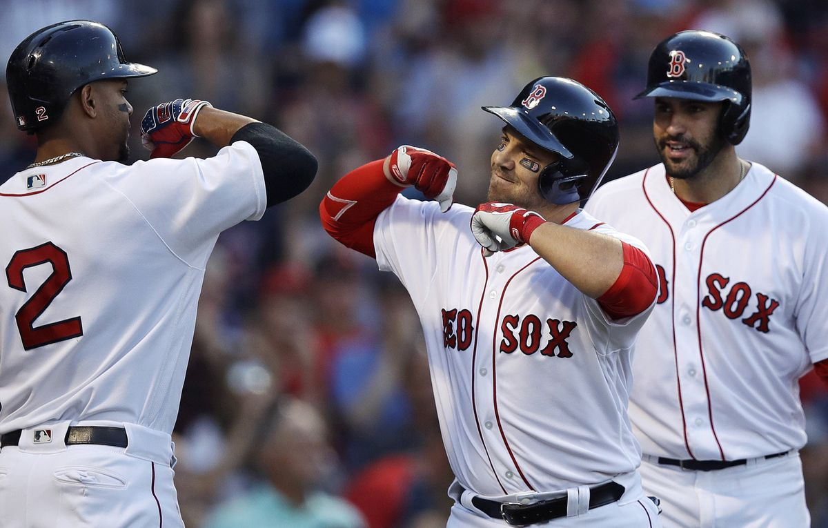 Homers From Steve Pearce JD Martinez Give Boston Red Sox 5 0 Win Vs Rangers