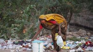 Acumulación residuos en India