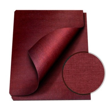 "MasterBind Maroon 8.5 x 11"" Linen Soft Covers - 100pk. MasterBind Soft Linen Covers provides the traditional presentation with the soft, classic feel. The 8.5 x 11"" features an elegant display that ensures a great depth of quality and are sure to set your project or report apart from the rest. The MasterBind Soft Linen Covers are designed and constructed for easy personalization like offset printing, silk screening, foil stamping, embossing, scored, folded, or even glued. It features three unique and stylish color selection including black, navy and maroon. Enhance your reports with this simple but premium soft linen covers today."