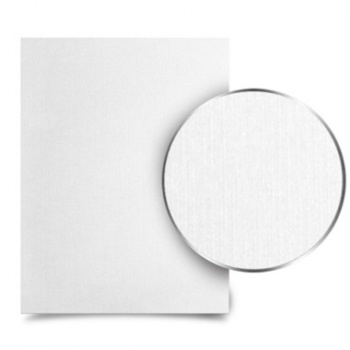 "Metalbind White Linen 8.5-x-11"" letter-size- book covers. With a smooth texture and high quality materials that feel amazing to the touch, you'll finally have the perfect covers for all your special photos or portfolio artworks."