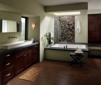 Bathroom with Chocolate Maple Cabinets - MasterBrand on Bathroom Ideas With Maple Cabinets  id=19426