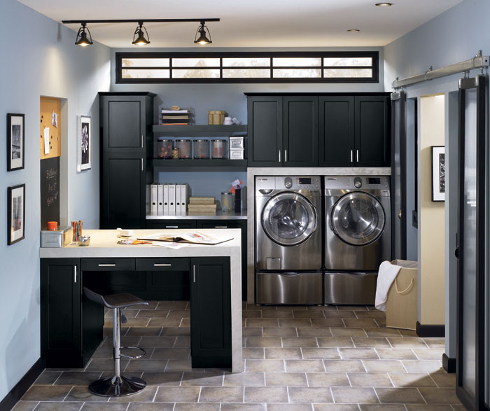 Laundry Room Cabinets In Black MasterBrand