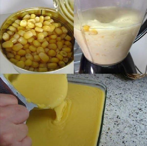 Curau Feito com Milho de Latinha Pronto em 10 Minutos