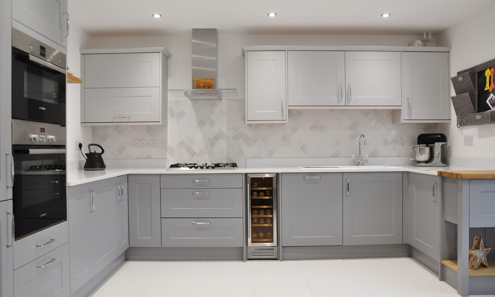 Chatsworth Silk Dust Grey And Light Grey With Marlborough Chef Real Kitchens Design
