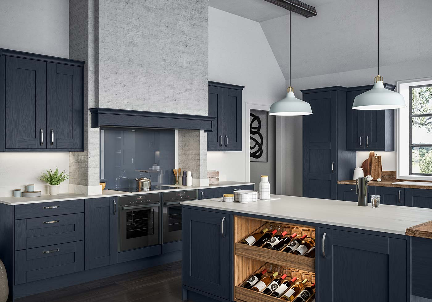 Blue Kitchen Ideas Dark Light Blues Masterclass Kitchens
