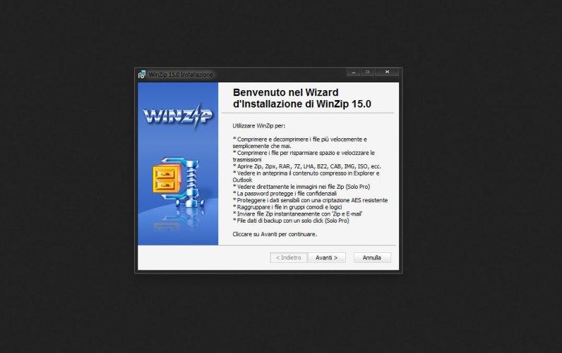 Installazione WinZip