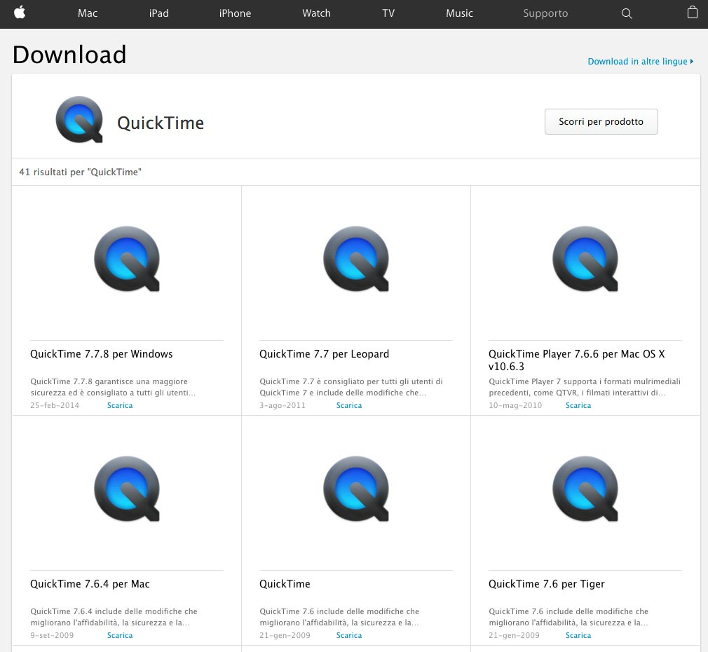 download gratuito quicktime di apple per windows vista :: evplanresi ga