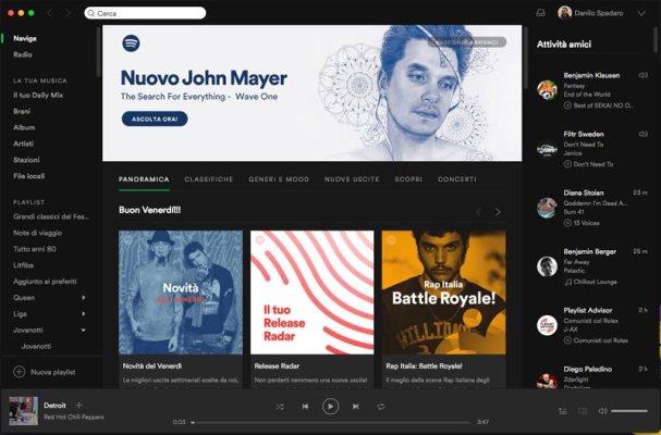 Applicazione Spotify Computer Mac