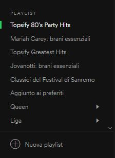 lista playlist spotify