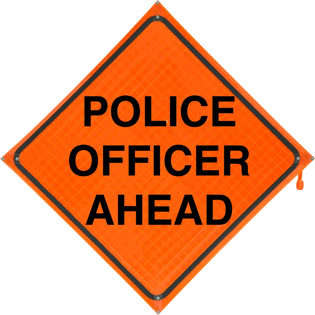 Xtr Re Poaoc Xtrre Poaoc Roll Up Sign 48x48 Police