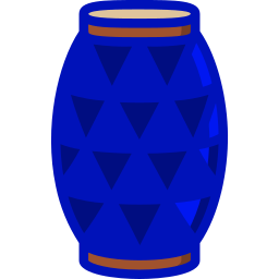 Blue packing drum