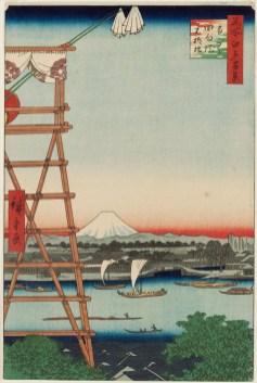 Ekōin, the Ryōgoku District, and Moto-Yanagi Bridge