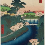 "Utagawa Hiroshige's prints, ""One Hundred Famous Views of Edo"" ukiyo-e artworks"