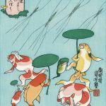 Utagawa Kuniyoshi, goldfish ukiyo-e prints (Kingyo zukushi)