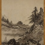"Japanese ink painting:""Landscapes of Autumn and Winter"" by Sesshu"