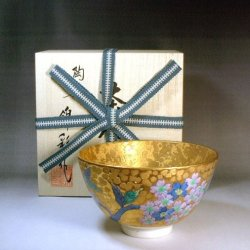 High-class Imari porcelain matcha bowls and water jugs by Fjii Kinsai