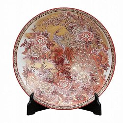 Japanese Kutani ware porcelain decorative plates for sale