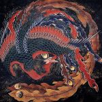 Katsushika Hokusai's original Phoenix painting in Obuse City