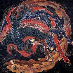 Katsushika Hokusai's original Phoenix painting in Obuse City